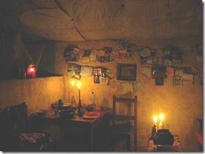 sitting area Meg's hut