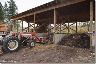 """Waste and manure is composted using a """"hot compost"""" method that prevents bacteria growth; it is regularly turned."""